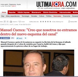 Ultima Hora Manuel Cuenca