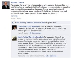 Manuel Cuenca a Mario Ferreiro