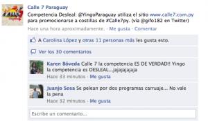 Calle 7 Paraguay Facebook