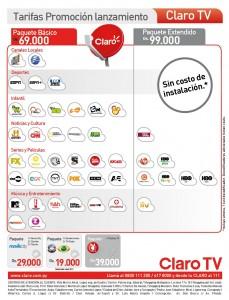 Grilla Claro Tv