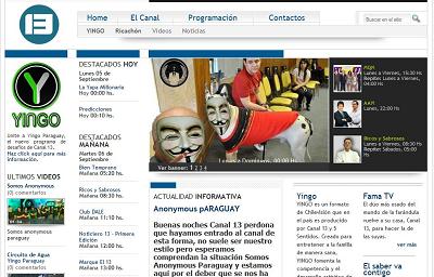 Hackearon web C13