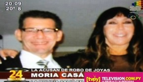Moria Casán con el joyero Armando Benítez