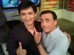 Adal Ramones con Juan Carlos Samaniego