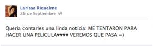 Larissa Riquelme Facebook