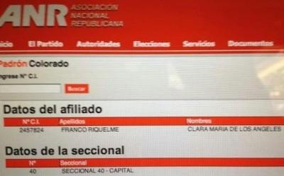 Clara Franco Partido Colorado