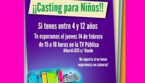 Tv Pública busca niños para su pantalla