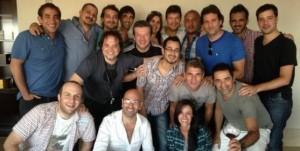 Marcelo Tinelli se reunió con su equipo Foto:Twitter
