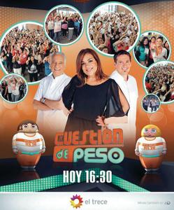 Cuestión de Peso lleva 6 años en Canal 13 de Argentina Foto: Facebook