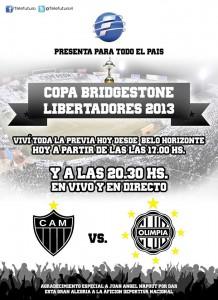Telefuturo transmitirá partido final de Copa Libertadores