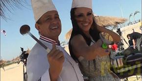 Santi y Pabla cocinan en tv online Foto: Facebook