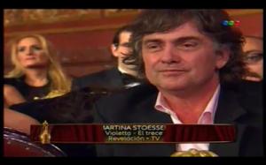 Alejandro Stoessel acompaño a su hija a los Martín Fierro