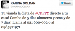 Tuit Karina Doldán