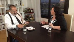 Mina entrevistó a Jorge Lanata Foto: Mina en domingo