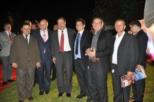 Autoridades nacionales presentes en lanzamiento de Sur Tv Foto: Abc Digital
