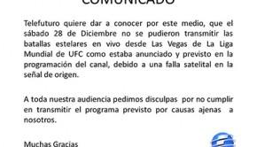 Telefuturo emitió un comunicado debido a falla técnica