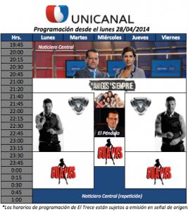 Unicanal emitirá Showmatch a las 21:40 hs. los Lunes, Martes, Jueves y Viernes