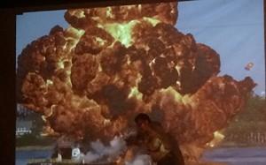 El uso de explosivos en películas fue uno de los temas de la charla Foto: TVPY