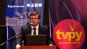 Pablo Scotellaro dio las palabras de bienvenida de una nueva edición del Asunción Media Show