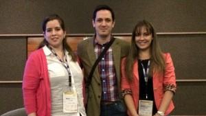 Vanessa Ramos Vaesken de Unicanal y Tigo Sports, Natalia Cabarcos de Telefuturo y Agustín Genovese participaron del panel