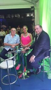 Domingo Coronel, Karina Doldán y Lucas Balmelli.