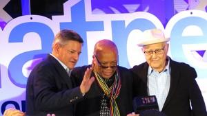 Ted Sarandos, Quincy Jones y Norman Lear