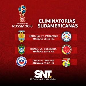 SNT Eliminatorias Rusia 2018 Martes